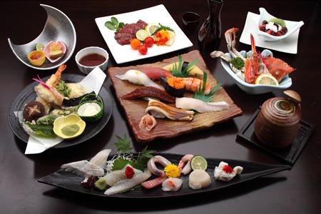 お寿司をメインにしたコース料理例